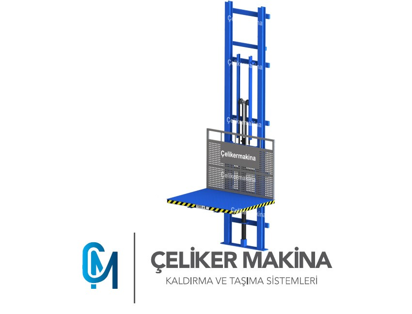 Yük Asansörü Hidrolik 750 kg