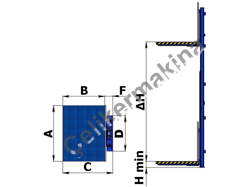 Yük Asansörü Basit Tip 1,5 Ton