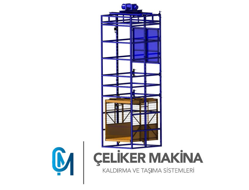 Halatlı Yük Asansörü 750 kg