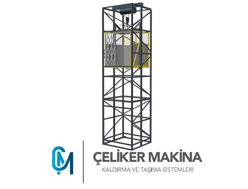 Halatlı Asansör 1 Ton