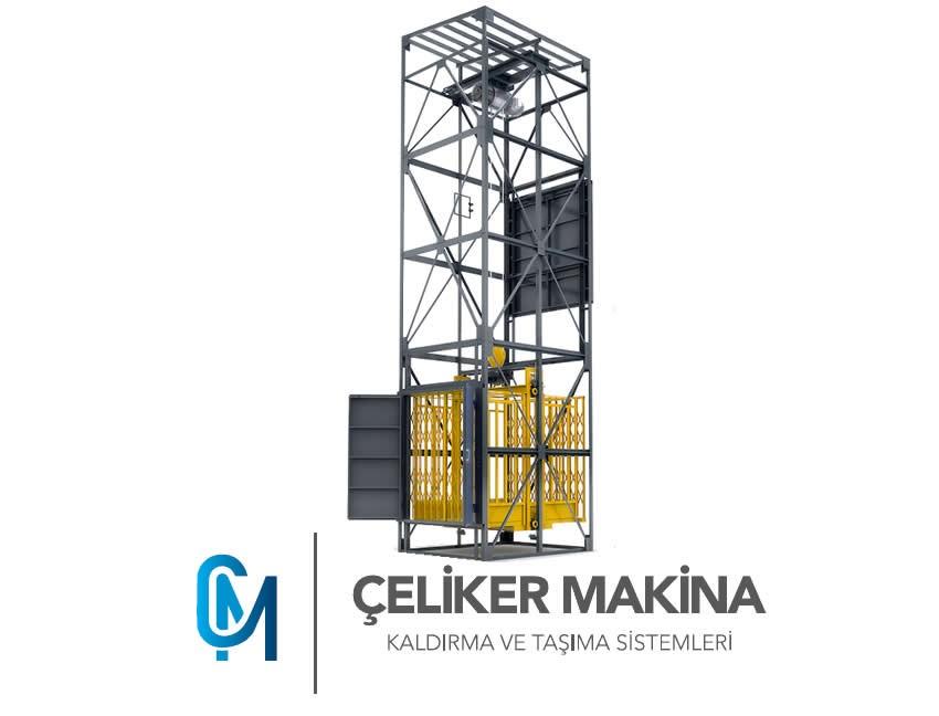 Yük Asansörü Halatlı 750 kg