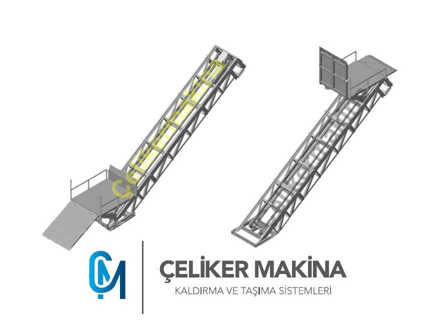 Halatlı Merdiven Asansörü 1,5 Ton
