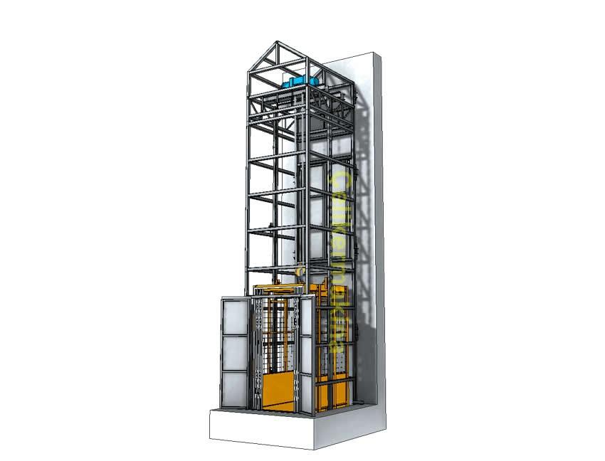 Halatlı Yük Asansörü 500 kg