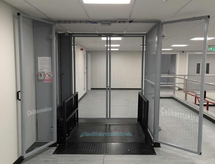 Tek Piston Hidrolik Asansör 3 Ton