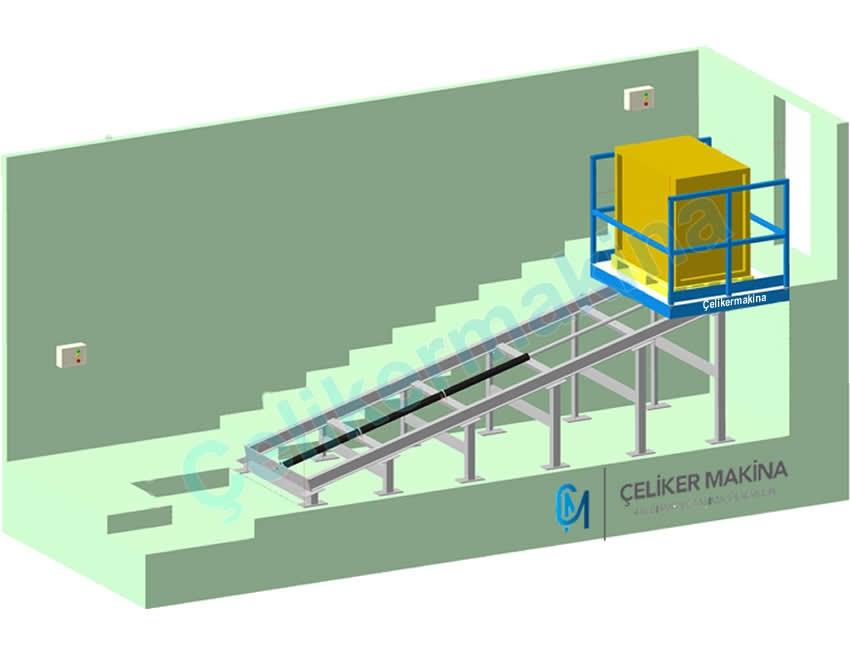 Hidrolik Rampa Asansörü 750 kg