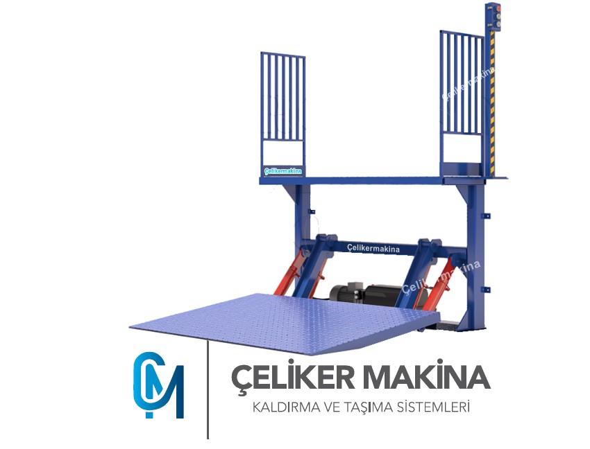 Hidrolik ürün yükleme platformu 1 Ton