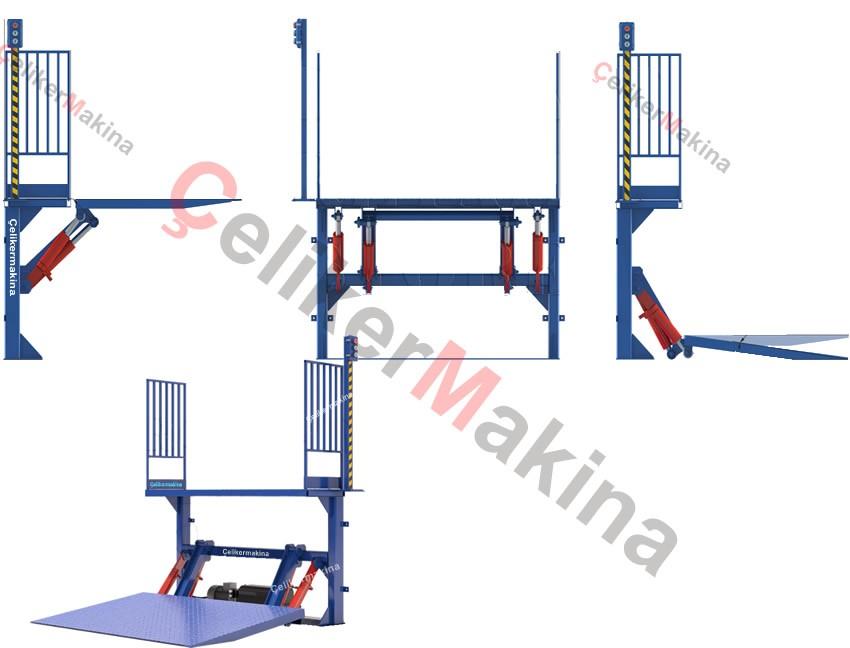 Hidrolik ürün yükleme platformu 750 kg