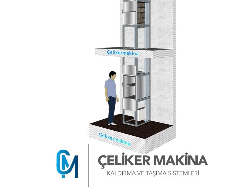 Yemekhane Asansörü 200 kg