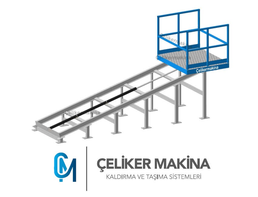 Hidrolik Rampa Asansörü 1 Ton