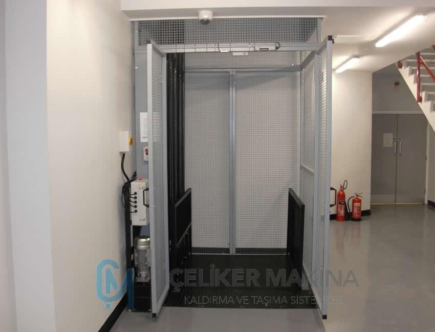 Tek Piston Hidrolik Asansör 1 Ton