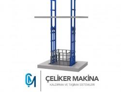 Çift Piston Hidrolik Yük Lifti 5 Ton