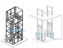 Hidrolik Asansör Çift Pistonlu 1 Ton