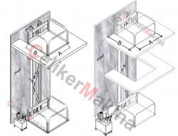 Hidrolik Asansör Tek Piston 500 kg