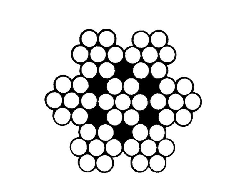 7x7 Çelik Özlü Halat