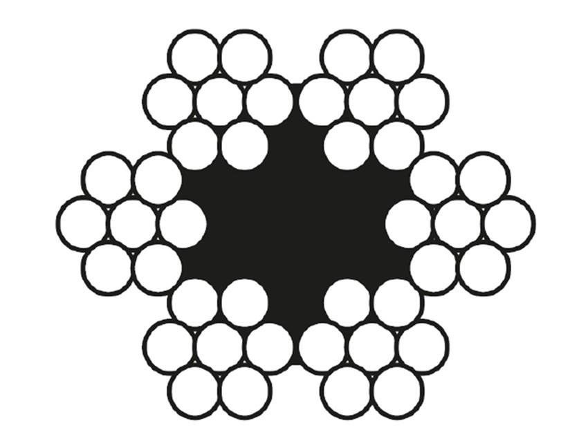 6x7 Kendir Özlü Çelik Halat