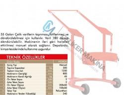300 kg Varil Taşıma Ve Çevirme Arabası