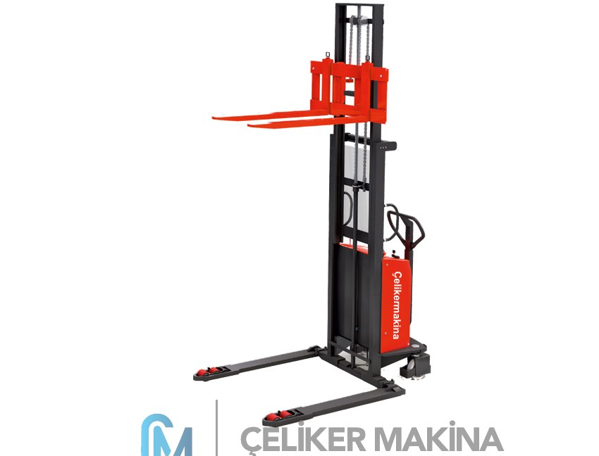 1 Ton 2,5 mt Geniş Ayaklı İstif Makinesi