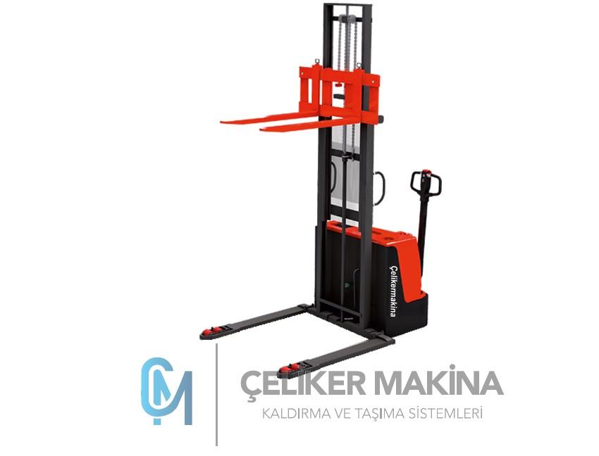 1 Ton Geniş Ayaklı Tam Akülü İstif Makinesi