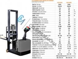500 kg 3 mt Denge Ayaksız İstif Makinesi