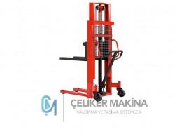 1 Ton 3 mt Manuel İstif Makinesi