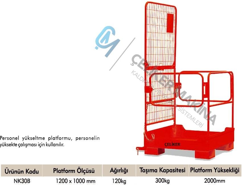 300 kg Personel Bakım Platformu