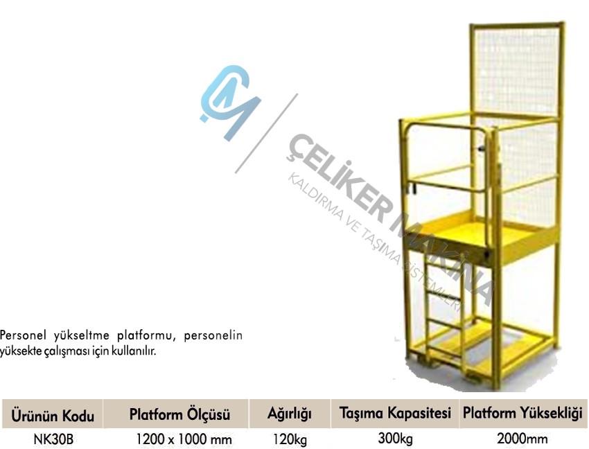 300 kg Bakım Platformu