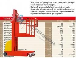 300 kg 6.5 mt Akülü Personel Yükseltici