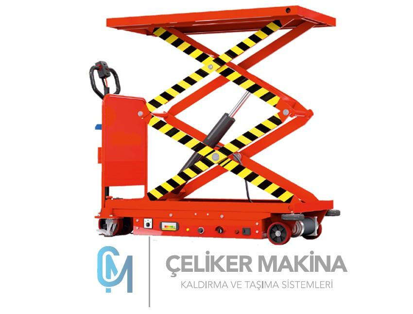 800 kg Akülü Makaslı Platform