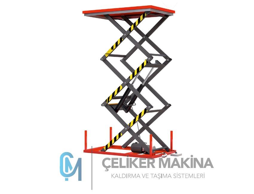 1 Ton 3 mt Elektrikli Makaslı Platform