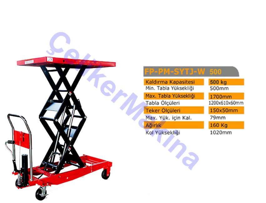 Manuel Makaslı Platform 500 kg