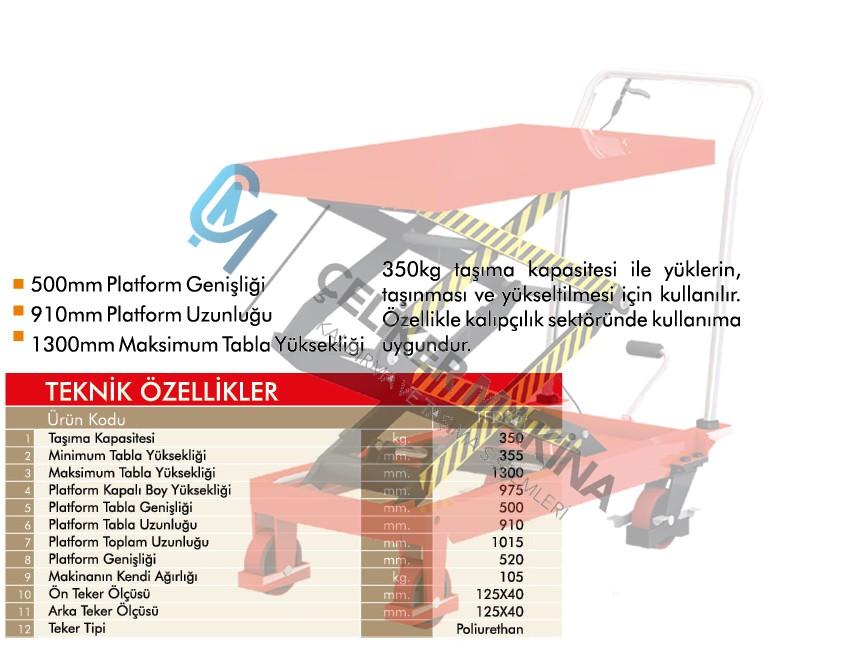 350 kg Manuel  Platform