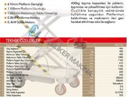 400 kg Akülü Platform