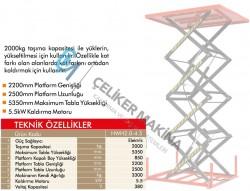 2 Ton 5.3 mt Elektrikli Makaslı Platform