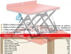2,5 Ton Makaslı Elektrikli Platform