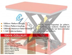 1 Ton Makaslı Elektrikli Platform