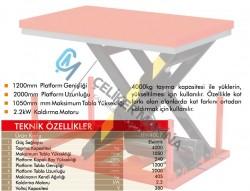 4 Ton Makaslı Elektrikli Platform