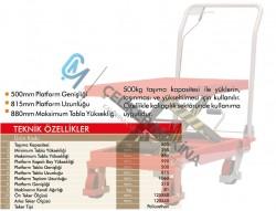 500 kg Manuel Makaslı Platform