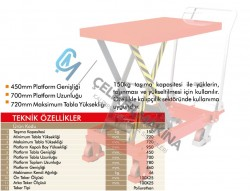 150 kg Manuel Makaslı Platform
