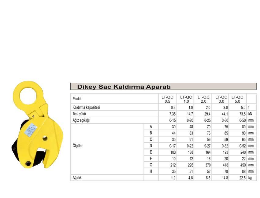 Dikey Sac Kapma 500 kg