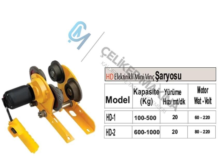 500/1000 kg Mini Elektrikli Şaryo