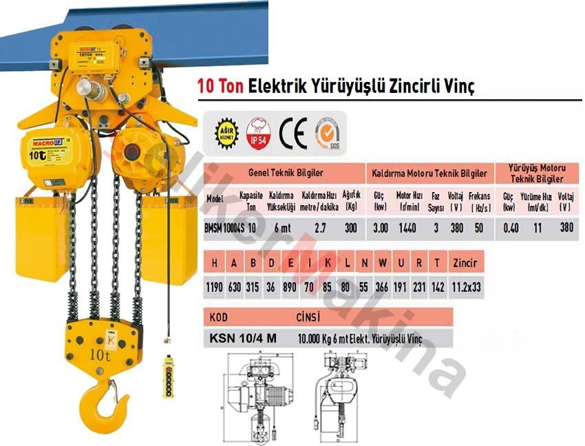 Monoray Vinç 10 ton