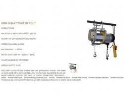 250 kg 60 mt Sabit Askılı Halatlı Vinç