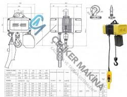 Elektrikli Caraskal SG Çift Hız 500 kg