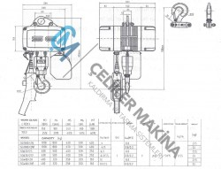 Elektrikli Caraskal SG Çift Hız 1 Ton